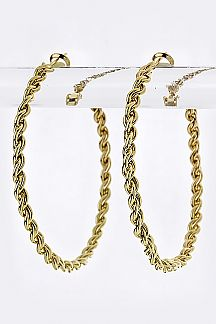 Twisted Chain Statement Hoops