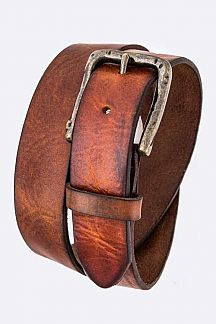 Distress Genuine Leather Belt