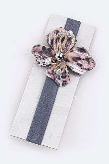 Beaded Flower Kids Size Stretch Headband