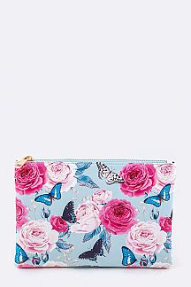 Butterfly Print Pouch