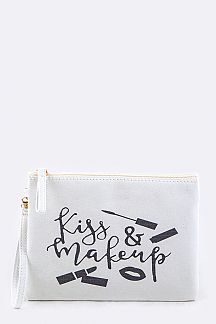 Kiss & Makeup Canvas Tote