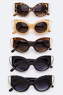 Iconic Frame Cat Eye Sunglasses