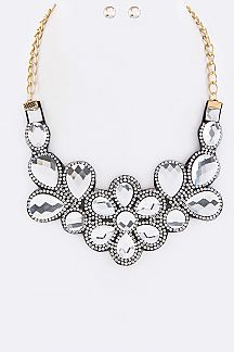 Crystal Statement Necklace Set