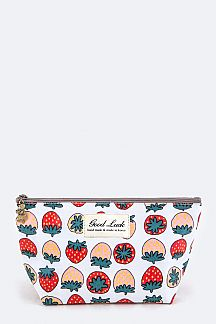 Strawberry Pattern Pouch
