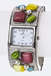 Mix Jewels Square Bangle Watch