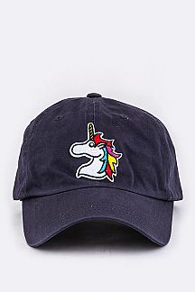 Unicorn Embroidery Cotton Cap