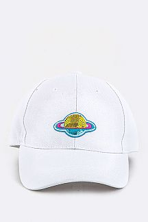 Sequins Planet Patch Cap