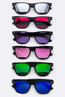 Light Weight Flat Wayfarer Sunglasses