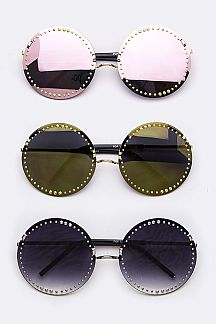Studded Round Sunglasses