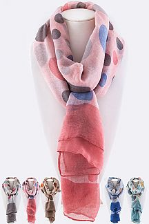 Polka Dot Fashion Print Scarf