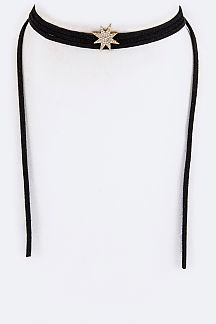 CZ Pave Star Wrapped Choker
