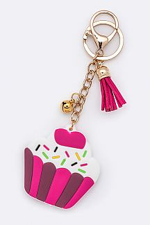 Jelly Cupcake Key Charm