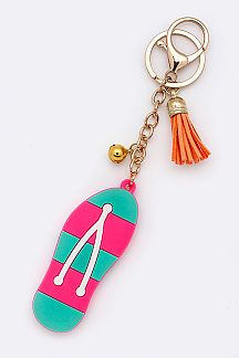 Jelly Flip Flop Key Charm