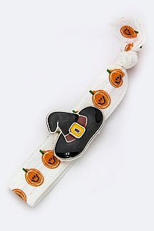 Enamel Witch Hat Slider Hair Tie