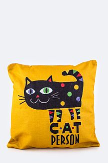 CAT PERSON Canvas Cushion