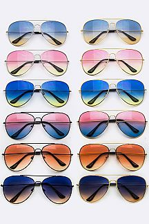 Gradient Lens Aviator Sunglasses