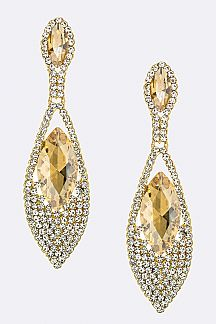 Marquise & Pave Crystal Teardrop Earrings