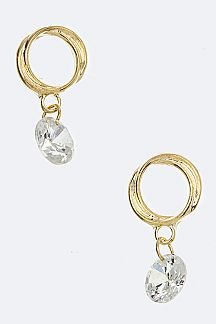 CZ & Overlapped Hoop Earrings
