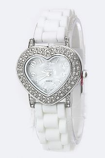Crystal Heart Fashion Watch