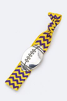 Football Slider Hair Tie