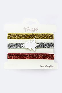 White Tree X'mas Color Hair Ties