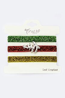 X'mas Tree Hair Ties
