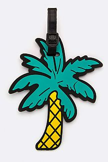 Palm Tree Jelly Bag & Luggage Tag