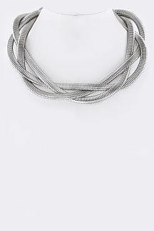 Braid Chain Collar Necklace