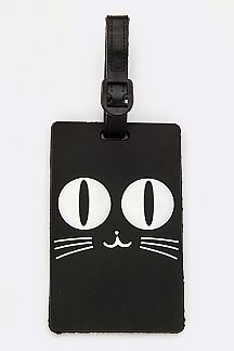 Black Cat Jelly Bag & Luggage Tag