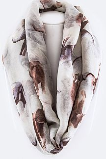 Assorted Elephant Pattern Infinity Scarf