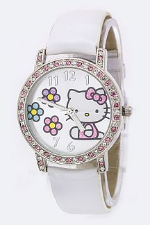 Hello Kitty 2 Tone Crystal Watch