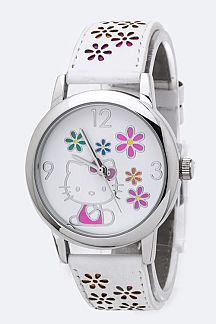 Hello Kitty Flower Perforation Watch
