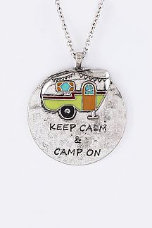 Happy Camper Medallion Necklace