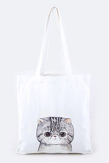 Cat Print Fashion Tote