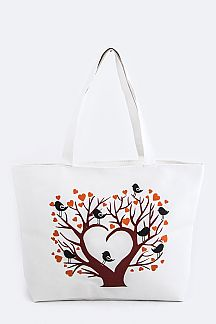 Heart & Birds Fashion Tote