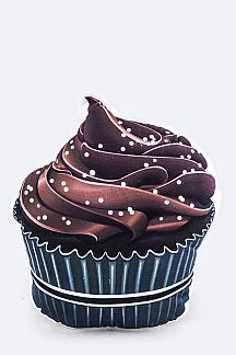 Mini Chocolate Cupcake Cushion