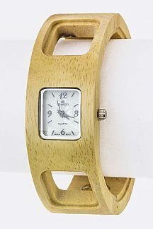 Wooden Bangle Watch