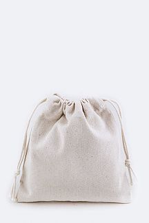 Heavy Canvas Drawstring Pouch - S