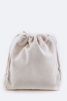 Canvas Drawstring Pouch - M