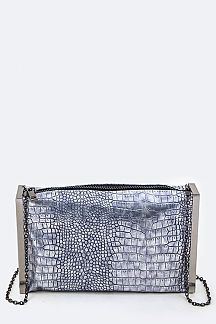 Metalic Python Fashion Clutch