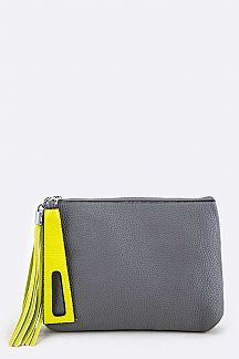 Grain Leather Convertible CLutch