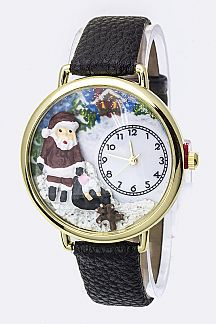Santa Claus Crystal Fashion Watch