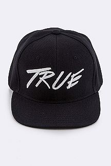 TRUE Embroidered Snap Back Cap