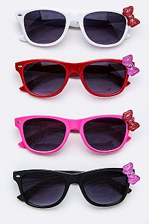 Kids Size Bow Accent Sunglasses