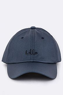 Hello Embroidery Cap