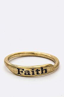 Engrave Faith Ring