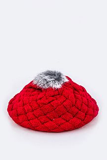 Toddler Pom Pom Beret Hat