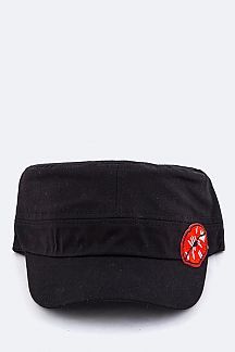Lips Patch Millitary Hat
