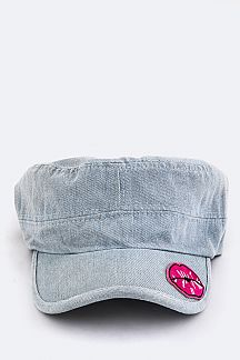 Lips Patch Denim Cadet Cap