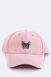 Boston Terrier Embroidery Cap